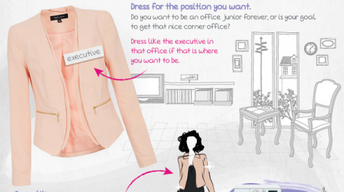 Presenting a Professional Image, women's business attire (Infographic)